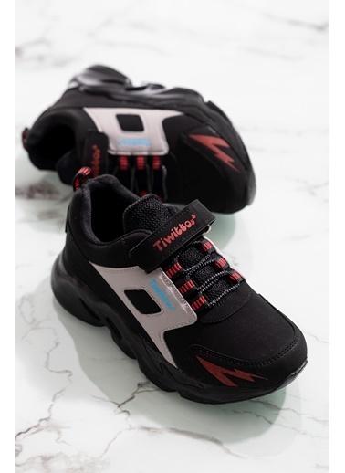Tonny Black Siyah Kırmızı Çocuk Spor Ayakkabı Tbz50 Siyah